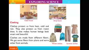 explore science class 3 unit 9 housing and clothing youtube