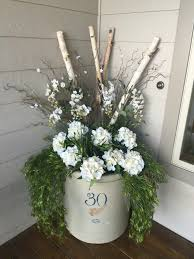 Spring Decorations For The Home by Red Wing Crock Front Porch Decor Spring Summer My Sunny Gardens