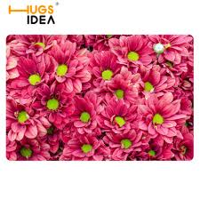 new home welcome mats cartoon carpets green flower pattern for