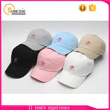 custom embroidery hats 6 panel baseball cap unstructured