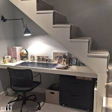 office space basement iny office under stairs space savings ideas pinterest