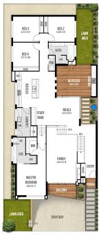 narrow floor plans floor cottage style homes plans for zero lot lines bayou house