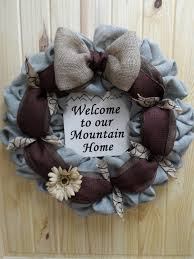 free shipping burlap mountain home wreath rustic mountain burlap