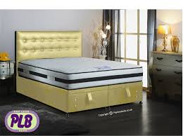 Ottoman Divan Ottoman Bed Faux Leather Finish Various Colours