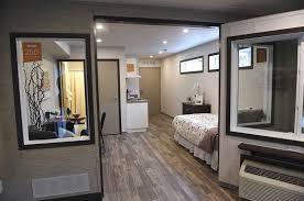 interior modular homes installation begins on modular housing complex