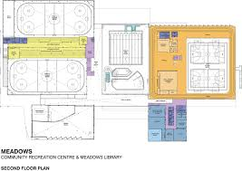 the meadows community recreation centre and the meadows library second floor floor plan