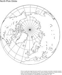 Blank North America Map by North Pole Globe Map Royalty Free When Mapping The Route Of The