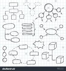 Treasure Map Blank by Hand Drawn Doodle Sketch Mind Map Stock Vector 218699053