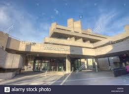 national theatre london brutalist modernist architecture stock
