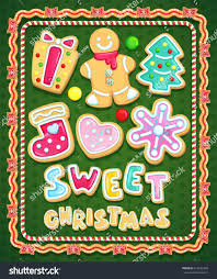 sweet christmas cookies set vector illustration stock vector