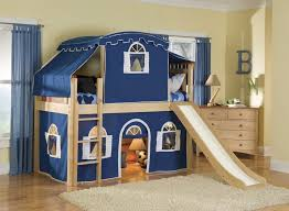 tents kids bunk bed with slide and stairs fun kids bunk bed with