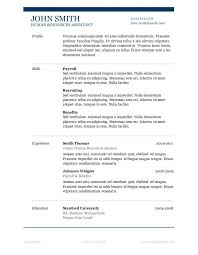 Word Resume Template 2007 Resume Templates Microsoft Word 2007 Resume Example