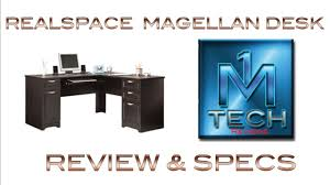 magellan performance collection l desk realspace magellan expresso desk review from officedepot youtube