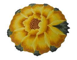 Sunflower Rugs Amazon Com M U0026g House Sunflower Round Rug Mats Computer Chair Mat