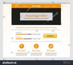 website homepage design orange website template modern homepage design stock illustration