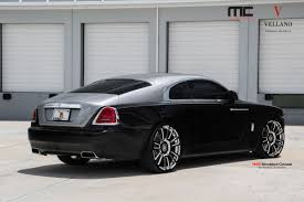 roll royce custom rolls royce wraith coupe sitting on vellano vm30 monoblock forged