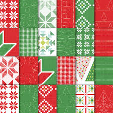 quilted christmas quilted christmas 6 x 6 15 2 x 15 2 cm designer series paper