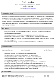 warehouse operative cv example hashtag cv