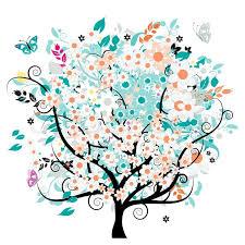 bautiful floral tree stock vector colourbox