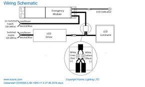 universal emergency module for led luminaires kosnic