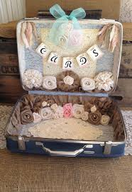 Shabby Chic Wedding Decoration Ideas by 66 Best Wedding Card Suitcase Holders Images On Pinterest