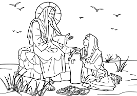 bible woman coloring pages