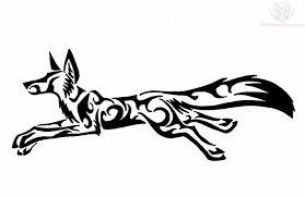 tribal fox designs tribal running fox tribal fox