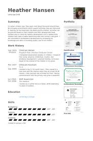 childcare resume samples visualcv resume samples database