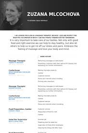 New Massage Therapist Resume Examples by Massage Therapist Resume Samples Visualcv Resume Samples Database