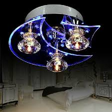 stylish and attractive modern led crystal moon star chandelier