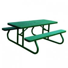 heavy duty plastic coated picnic tables treetop products