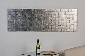 casablanca design casablanca design wandbild schiefer 150 x 50 x 3 cm silber