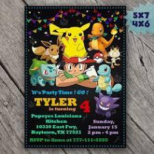 sale 15 off pokemon invitation pokemon birthday invitation