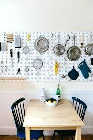 Kitchen Pegboard Ideas Pegboard Pot Kitchen Hooks As Rack In Vintage Kitchens Retro