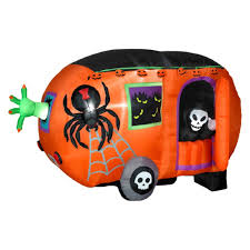 gemmy airblown animated halloween camper inflatable hayneedle
