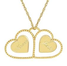 Couple Name Necklace 15 Beautiful Name Locket Designs For Men And Women