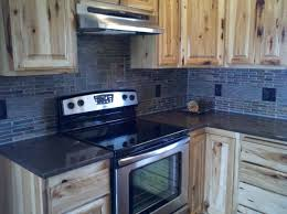 natural stone backsplash with layered tile custom hickory