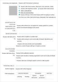 Plain Resume Template Resume Cv Cover Letter Blank Cv Resume Template 4