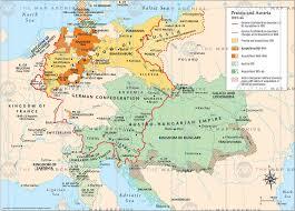 Map Austria Prussia And Austria 1815 U201366