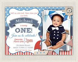 nautical first birthday invitations nautical first birthday
