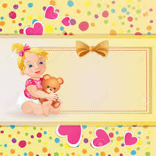 baby shower card with cute baby royalty free cliparts