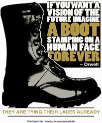 orwell boot if you want a vision of the future imagine a boot stamping on a
