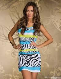 new zebra leopard geometric print mini dress night club