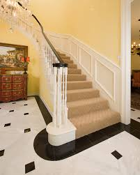 marble foyer traditional staircase dallas by tile