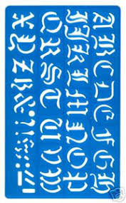30mm old english letters stencil template with alphabet and