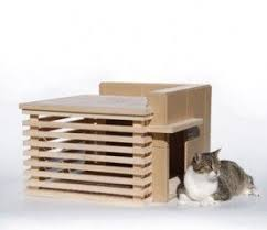 Modern Cat Bed Furniture by Frank Lloyd Wright Prefab Cat House Cat Furniture Pinterest