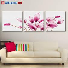 afflatus wall painting nordic temperament elegant calla lily
