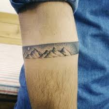 mountain armband tattoo by doy