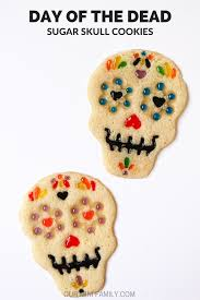 our mini family dia de los muertos sugar skull cookies