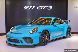 porsche gt3 porsche 911 gt3 launched in malaysia from rm1 7m